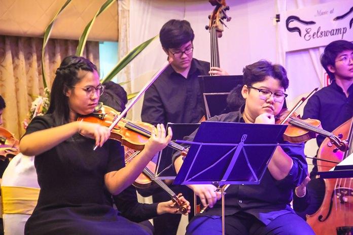 1st violins of the Silpakorn String Orchestra.