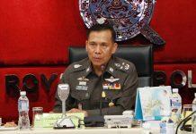 Deputy police chief Chalermkiat Sriworakan.