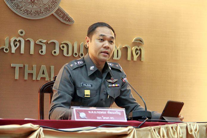 National Police spokesperson Pol Col Kritsana Pattanacharoen,