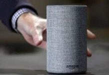 In this Wednesday, Sept. 27, 2017, file photo, a new Amazon Echo is displayed during a program announcing several new Amazon products by the company, in Seattle. (AP Photo/Elaine Thompson, File)