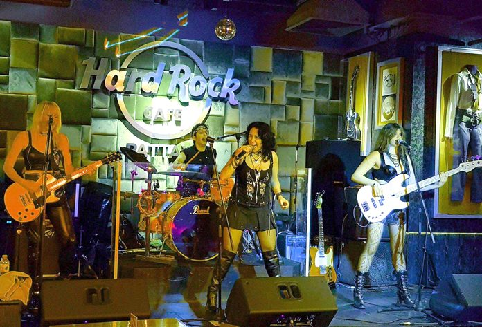 Syteria perform on stage at Hard Rock Pattaya, Friday, Feb. 9 (Photo/Dutch Michaels)