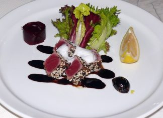 The new herb-crusted tuna.
