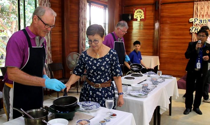 Diana Group Managing Director Sopin Thappajug opens the cooking class at the resort's Pavilion restaurant.