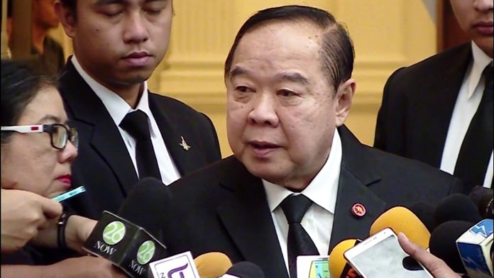 Defense Minister Gen. Prawit Wongsuwan.