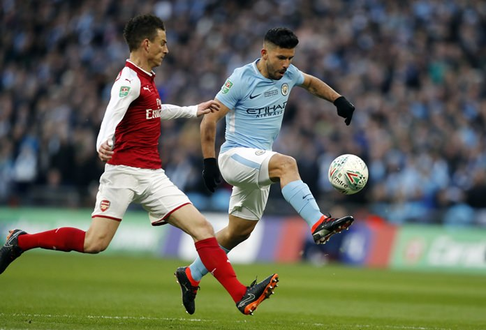 Man City thrash Arsenal to win League Cup final