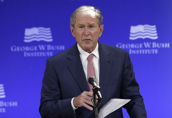 Former President Bush says Russian Federation  interfered with vote in the US