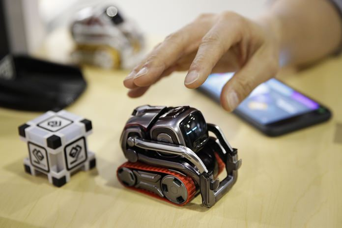 In this Jan. 10, 2018, file photo, Anki Cozmo coding robot is on display at CES International in Las Vegas. (AP Photo/Jae C. Hong, File)
