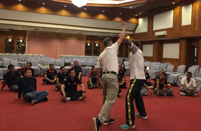 Some of the volunteers are given lessons in martial arts and assisting in emergency response.