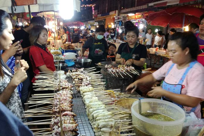"""The """"walking street' market aimed to promote Naklua as a tourism destination by showcasing the community's traditional fishing village heritage."""