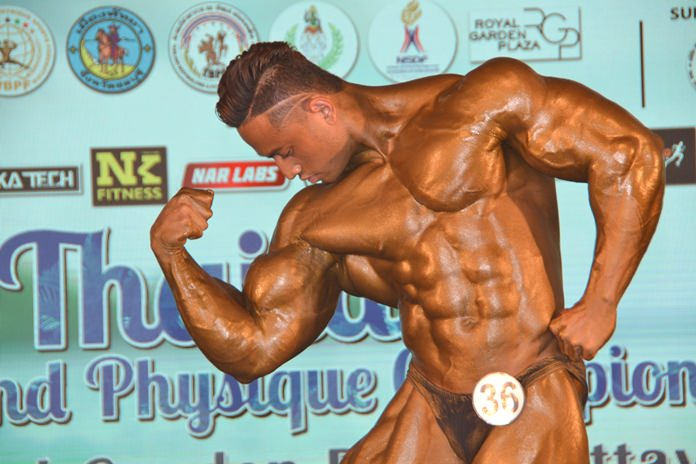 'Arm' Apichai Wandee, competed in the 80 kilograms up category at the Thailand Muscle and Physique Championships 2018, held at Royal Garden Plaza from February 24-25.