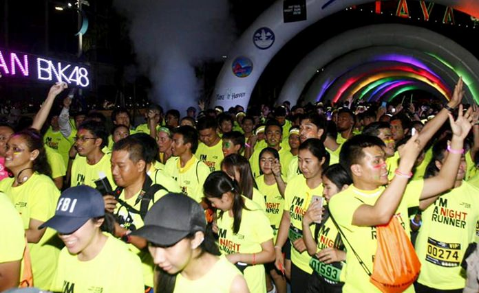 Over 3,000 participants took part in the Pattaya Night Run 2018.