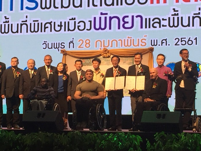 Eighteen government agencies and businesses have agreed to modernize Pattaya-area tourist attractions to be accessible to the disabled and elderly.
