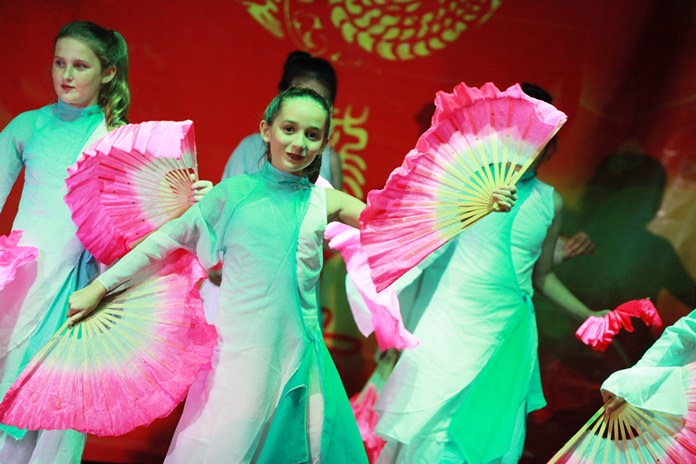 The Chinese fan dance was performed expertly.