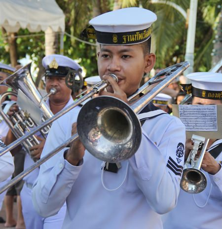 The Royal Thai Navy Band led the parade.