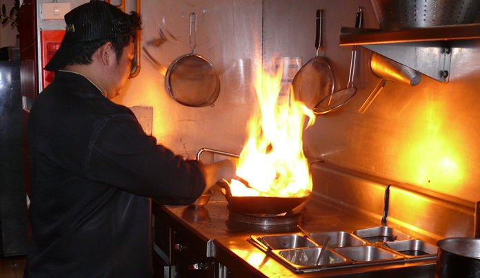 Chefs love the flambé theatre.