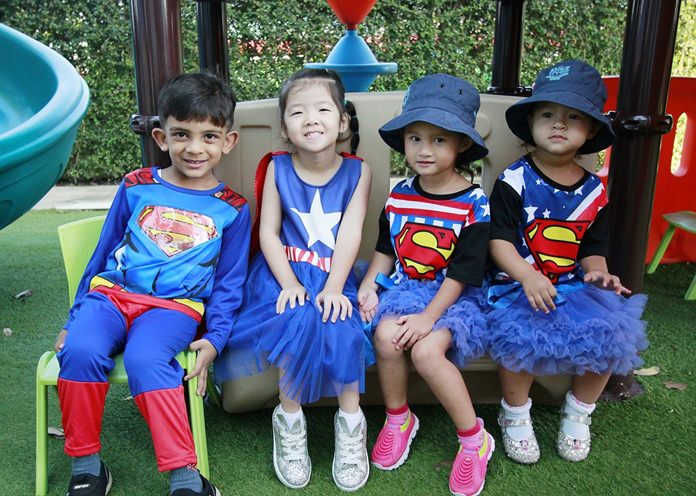 Superheroes enjoyed the book day.