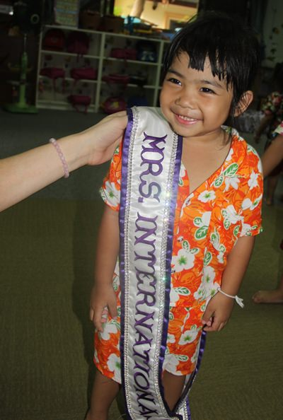 Very excited to wear the sash.