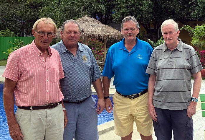 Willem Lasonder, George Gamble, Tony Moorat and Sam Gettinby