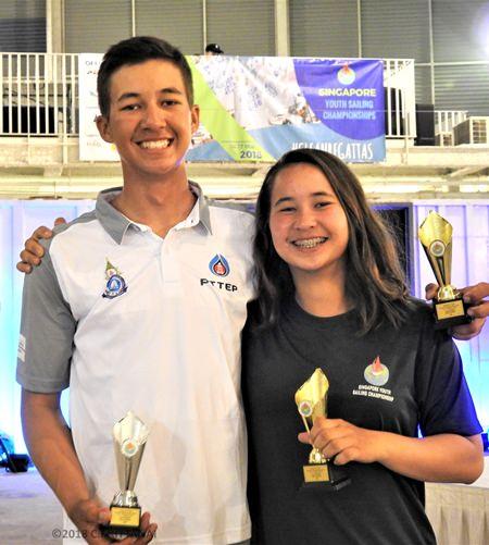 Laser Radial class winners - Arthit and Janisara Romanyk.