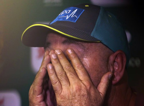 Tearful Australia Coach Lehmann Says He Would Quit After South Africa Series