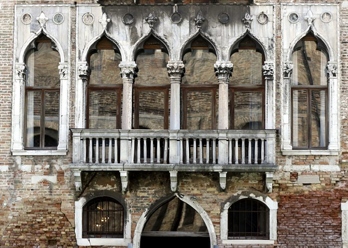 This image taken Tuesday, March 27, 2018, shows the Palazzo Pesaro Papafava in Venice, Italy, which hosts the first ever Casanova Museum on the 18th century Italian adventurer Giacomo Casanova. (AP Photo/Luca Bruno)