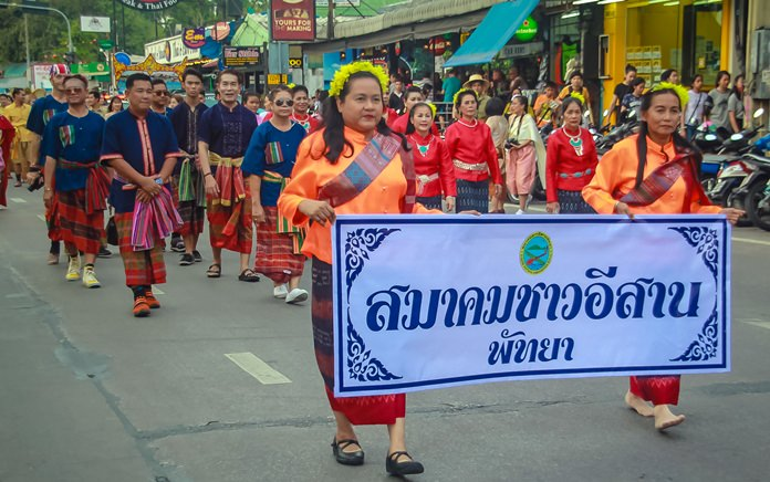 Pattaya's Isaan Association dress in northern wear.