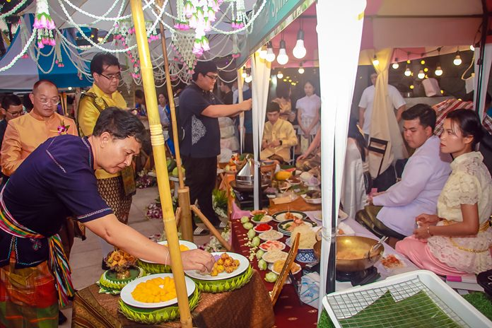 Participants are treated to traditional goods cooked up by local sponsors.