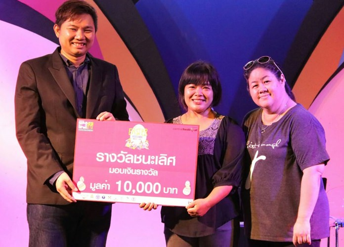 The Fountain of Life Christ Church wins the Easter egg contest, taking home 10,000 baht.