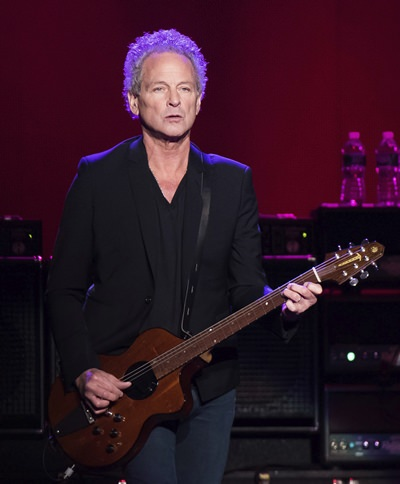 Lindsey Buckingham from the band Fleetwood Mac is shown in this Oct. 6, 2014 file photo. (Photo by Charles Sykes/Invision/AP)