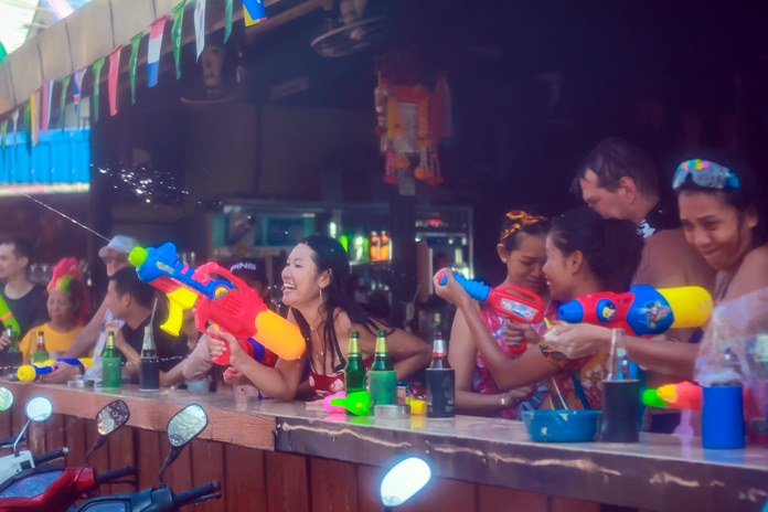 Beer bars are always the highlight of wild fun and excitement for tourists during Songkran.