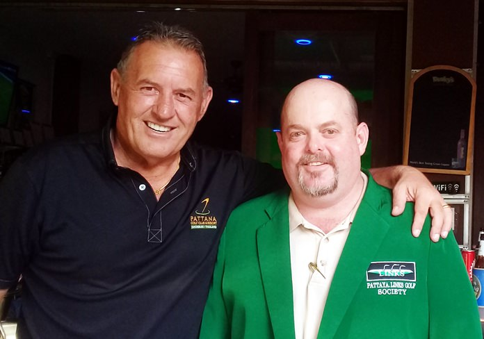Brendan Gilsenan (right) with Phil Davies.