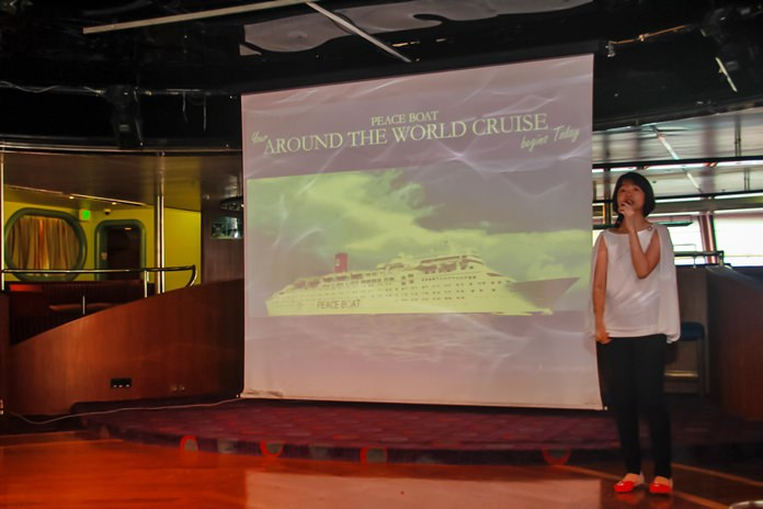 Ms. Vicky Or gives an overall insight of the ship, its objectives and things on offer for the recent visitors.