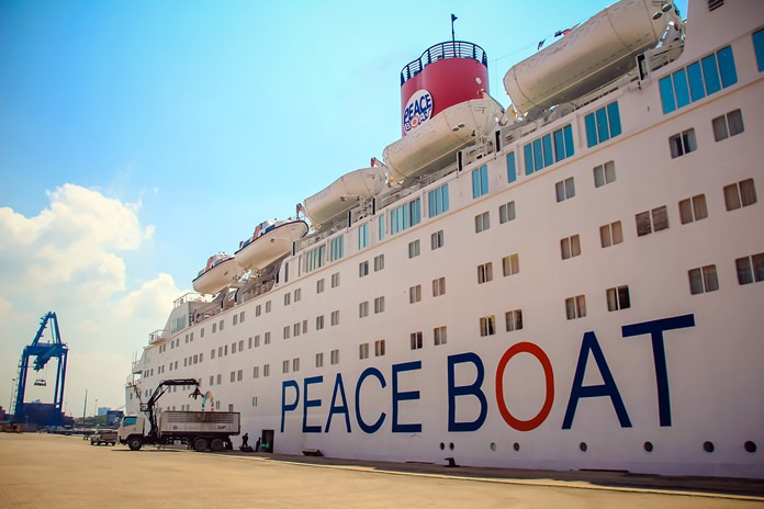 The Peace Boat docked in Laem Chabang.