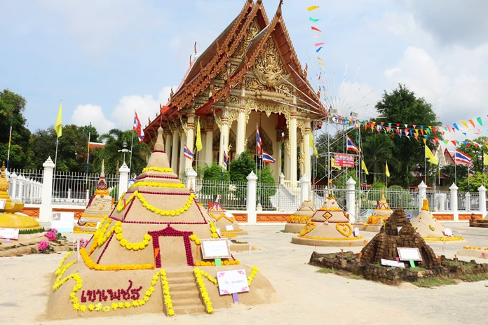 Sand castle contests are a big part of the local Songkran tradition.