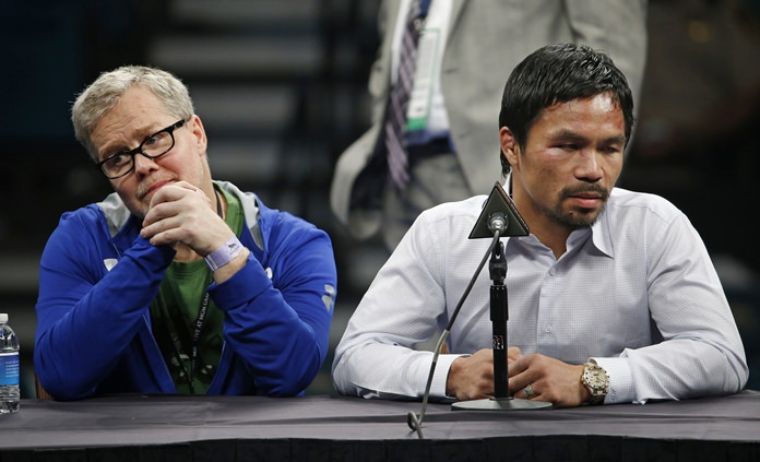 Pacquiao clarifies his split with trainer Roach is not final