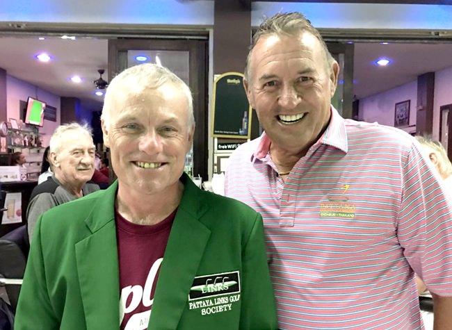 Derek Phillips (left) with Phil Davies.