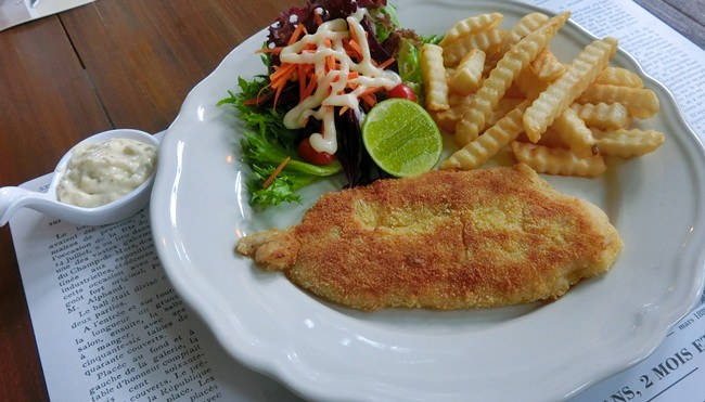 The British favorite Fish and Chips.