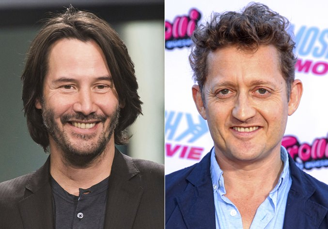 This combination photo shows actors Keanu Reeves (left) and Alex Winter. (AP Photo)