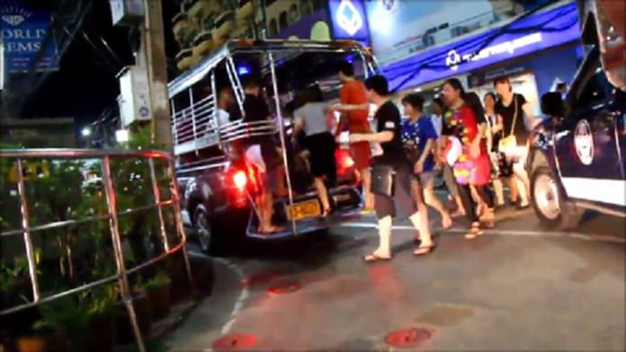 Baht buses drivers' disorderly behavior poses a danger to other vehicles and pedestrians alike.