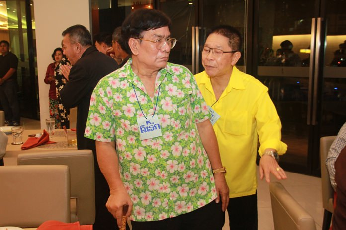 Direk Pongsawat who worked for decades at the Royal Cliff Hotels Group kept in touch with his old friends and together with Santi Jirapat (right) was instrumental in organizing the reunion for the past 5 years.