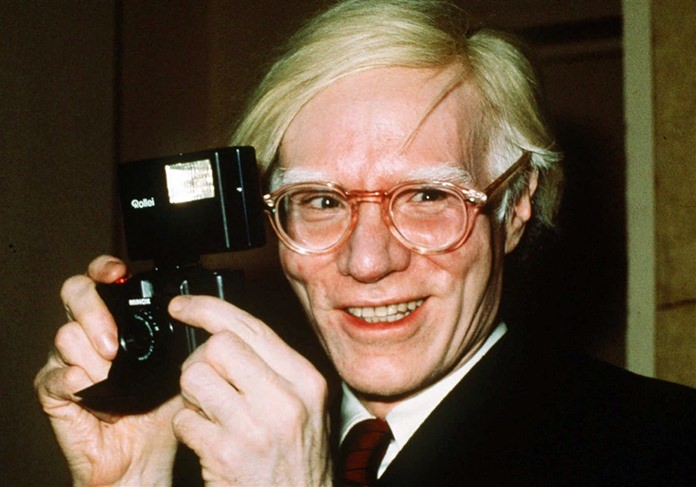 Andy Warhol in 1976. (AP Photo)