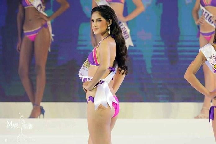 Morgane looks stunning in the swimsuit competition.
