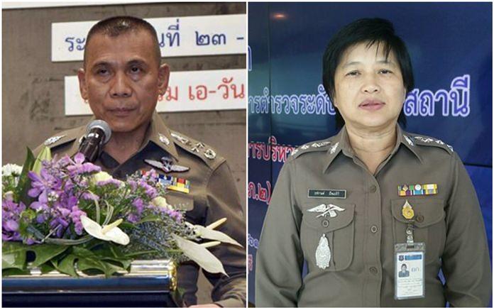 Pol. Gen. Chalermkiat Sriworakan and Pol. Lt. Col. Thachakan Pattamasiri are laying down strategies to combat illegal drugs.