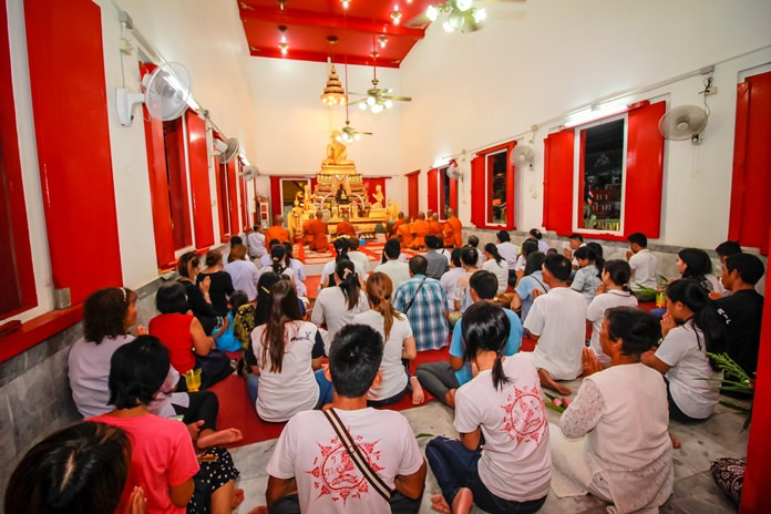 The aura of the holy chapel is filled with the chanting of Buddhist monks.