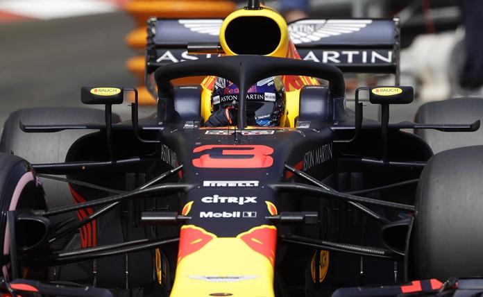 Australia's driver Daniel Ricciardo steers his Red Bull during the qualifying session at the Monaco racetrack, in Monaco, Saturday, May 26. (AP Photo/Luca Bruno)