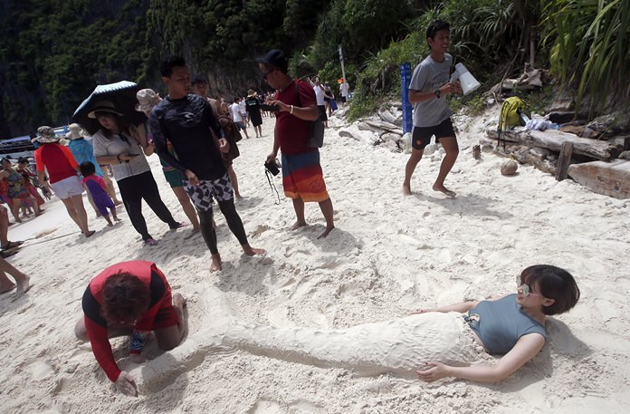 The popular tourist destination of Maya Bay in the Andaman Sea has closed to tourists for four months to give its coral reefs and sea life a chance to recover from an onslaught that began nearly two decades ago.