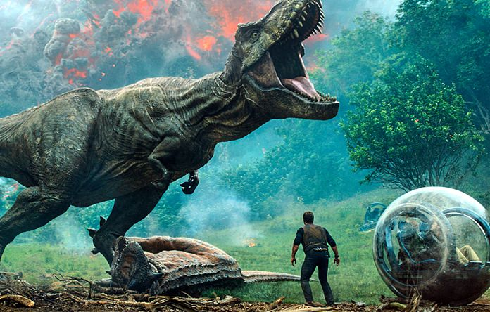 """This image released by Universal Pictures shows a scene from """"Jurassic World: Fallen Kingdom."""" (Universal Pictures via AP)"""