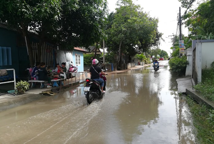 For the past four years the sewers in Moo 6 village have overflowed into nearby houses when it rains.