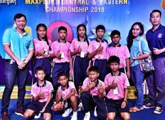 Two migrant children under care of Pattaya's ASEAN Education Center placed in the top four in the Sudoku competition at the Maxploys Central and Eastern Championships.
