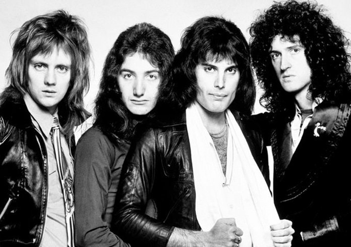 Queen in 1977 (from left) Roger Taylor, John Deacon, Freddie Mercury and Brian May.